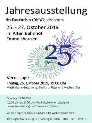 Vorschaubild zur Meldung: Kunstkreis >Die Wiebelsborner< feiert 25. Geburtstag