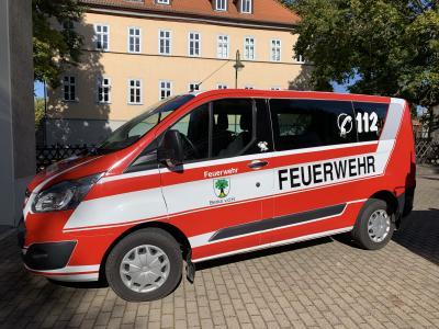 """Vorschaubild zur Meldung: """"Neues"""" Fahrzeug für die FFW Berka vor dem Hainich"""