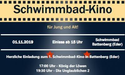 Vorschaubild zur Meldung: Schwimmbad-Kino am 1. November