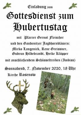 Foto zur Meldung: Hubertusgottesdienst in Rosenow, 07. Nov. 2020