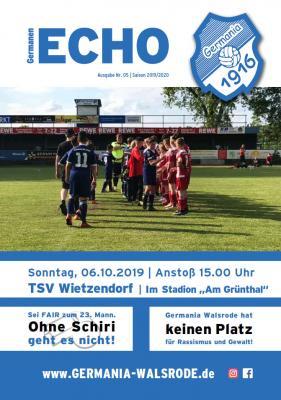 Germanen-Echo Nr.5 - TSV Wietzendorf  06.10.2019