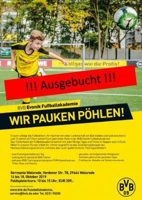 Foto zur Meldung: Jugend - BVB Evonik Fussballschule komplett ausgebucht