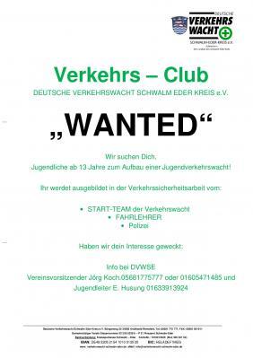 """Vorschaubild zur Meldung: Verkehrs-Club """"WANTED"""""""