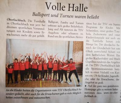 Bild der Meldung: Presseartikel zum TSV Tag