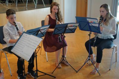 Klarinettenensemble in concert