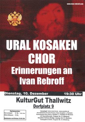 Vorschaubild zur Meldung: Ural Kosaken Chor am 10.12.2019 im KulturGUT Thallwitz