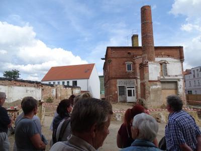 Vorschaubild zur Meldung: Sanierung des Schornsteins im Klosterviertel beginnt