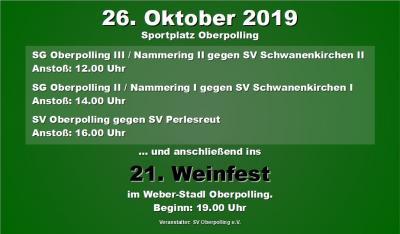 Foto zur Meldung: Fußballnachmittag und anschließend ins 21. Oberpollinger Weinfest
