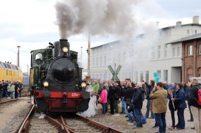 Die Lokomotivparade war einer der vielen Höhepunkte der Herbstdampftage I Foto: Martin Ferch