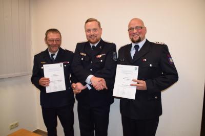 Foto zur Meldung: neue Ortswehrführung für die FF Dergenthin