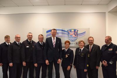 Foto zur Meldung: Verleihung des Brandschutzehrenabzeichens für 40 Jahre aktiven Dienst