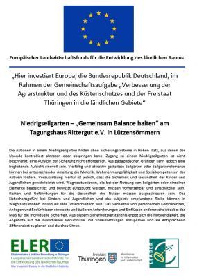 """Foto zur Meldung: Niedrigseilgarten - """"gemeinsam Balance halten"""""""