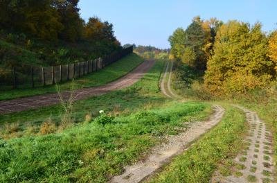 erhaltener Grenzstreifen am Grenzmuseum Schifflersgrund(c)Geo-Naturpark Frau-Holle-Land