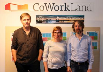 Die Pioniere Frederic Schröder (l), Christina Quast und Christian Soult stellten ihre Projekte vor I Foto: Martin Ferch