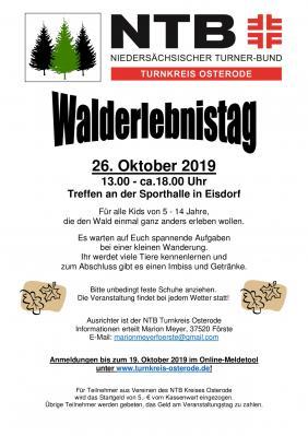 Foto zur Meldung: Walderlebnistag am 26.10.2019 in Eisdorf