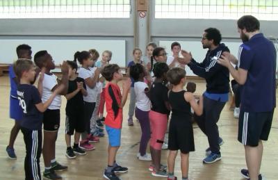 Vorschaubild zur Meldung: Klasse 3c - Basketball - Schnupperstunde - September 2019