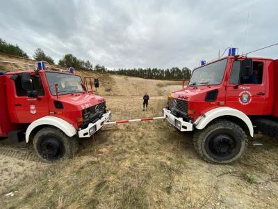 Foto zur Meldung: Kameraden übten in der Kiesgrube den Ernstfall