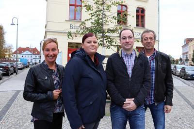 von links: Sabrina Borowski, Katrin Seehaus, Marcel Elverich und Jens Lindner I Foto: Martin Ferch
