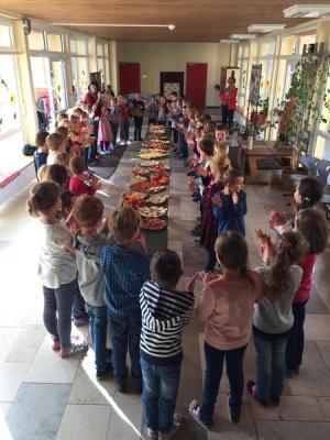 Foto zur Meldung: Gesundes Frühstück in Sulzheim