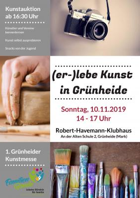 Vorschaubild zur Meldung: 1. Grünheider Kunstmesse am 10. November