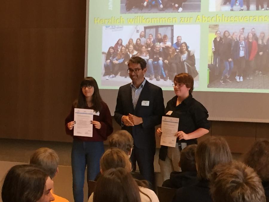 Vorschaubild der Meldung: Umweltmentorinnen der Grimmelshausenschule Renchen werden ausgezeichnet
