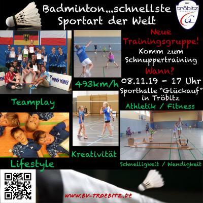 Vorschaubild zur Meldung: BADMINTON – der Sport für jedermann