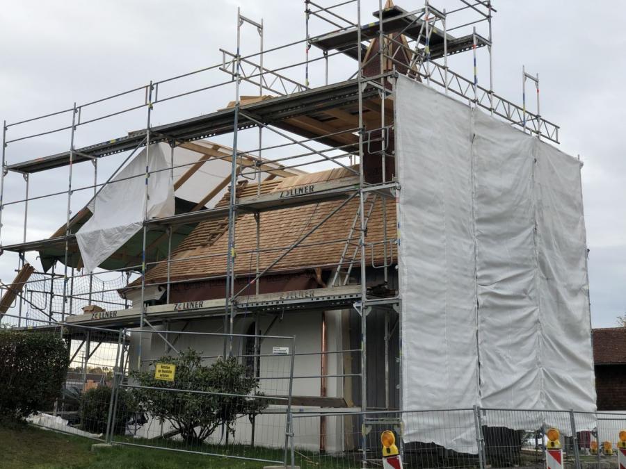 Bild der Meldung: Sanierung der Maria-Hilf-Kapelle geht recht gut voran
