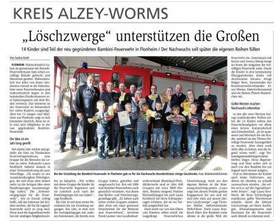 Vorschaubild zur Meldung: Flonheim hat jetzt auch eine Bambini Feuerwehr!