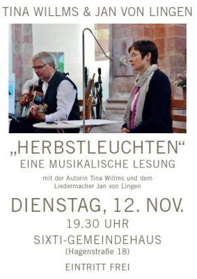 """Vorschaubild zur Meldung: Sixti acts > Am Dienstag, 12. November um 19:30 Uhr """"""""Herbstleuchten"""""""