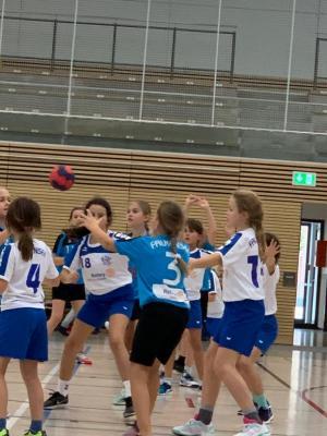 Foto zur Meldung: Handball- Nachwuchs: Heimspieltag der E- Jugend mit Licht und Schatten
