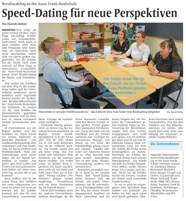 Foto zur Meldung: Speeddating an der Anne-Frank-Realschule