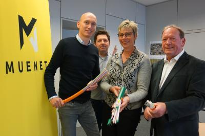 Foto zur Meldung: Breitbandausbau beginnt noch in diesem Jahr - Unterzeichnung LOI mit MUENET GmbH