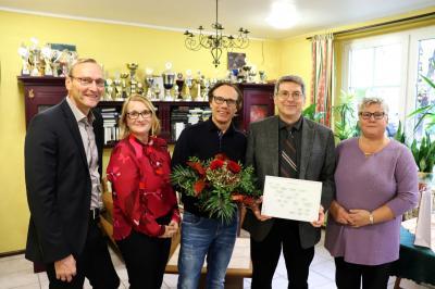 von links: Uwe Neumann, Gabriele Hahn, Edwin Rösel, Dr. Oliver Hermann und Renate Klickow I Foto: Martin Ferch