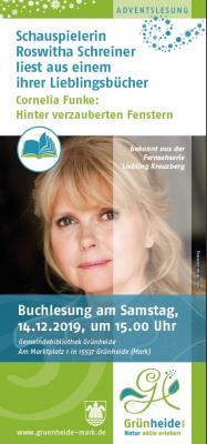 Vorschaubild zur Meldung: Buchlesung mit Schauspielerin Roswitha Schreiner