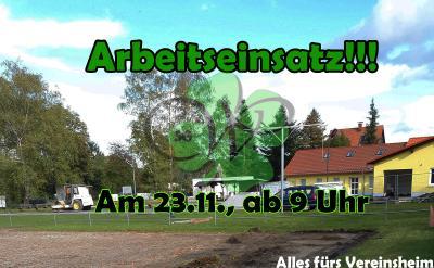 Vorschaubild zur Meldung: Arbeitseinsatz am 23.11.19 - Alles für das neue Vereinsheim