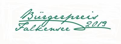Unser Bild zeigt den Logo-Schriftzug zum Bürgerpreis 2019