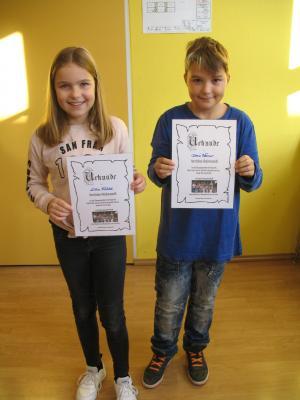 Unsere beiden Klassensprecher sind Lilea Fichtel und Denis Werner. Herzlichen Glückwunsch!