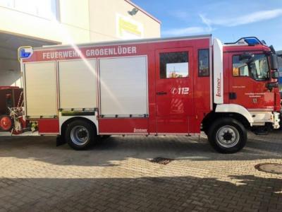 Übergabe und Segnung des neuen Feuerwehrfahrzeuges der FFW Großenlüder