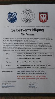 Selbstverteidigung für Frauen am 23. und 24.11.19