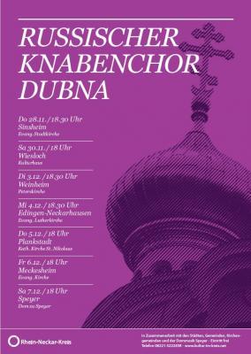 Vorschaubild zur Meldung: Russischer Knabenchor aus Dubna gastiert im Rhein-Neckar-Kreis