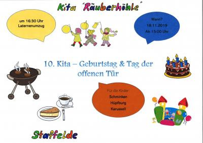 """Vorschaubild zur Meldung: Die Kita """"Räuberhöhle"""" feiert ihren 10. Geburtstag"""