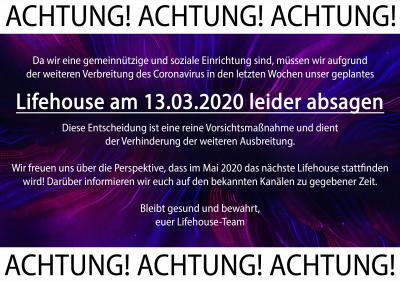 Lifehouse findet im März 2020 nicht statt