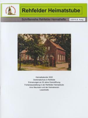 Vorschaubild zur Meldung: Neues Heimatheft der Rehfelder Heimatstube erschienen!