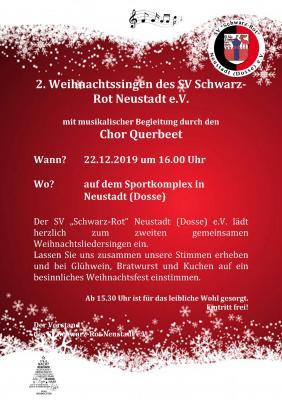 Vorschaubild zur Meldung: Zweites Weihnachtssingen des SV Schwarz-Rot-Neustadt