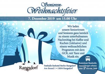 Foto zur Meldung: Einladung zur Senioren-Weihnachtsfeier