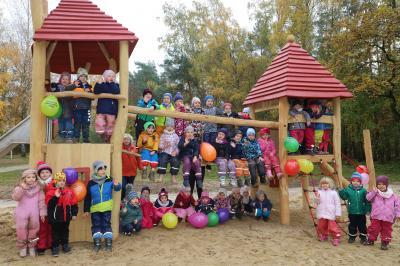 Foto zur Meldung: Neue Spieltürme für unsere Kleinsten