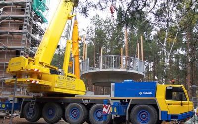 Foto zur Meldung: Aussichtsturm Gosda erhält Besucherplattform