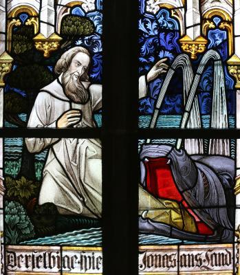 Ein restauriertes Fenster Foto: K. Ivory