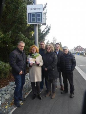 Foto zur Meldung: Tempomessung mit Solarmodul in Neuhaidhof