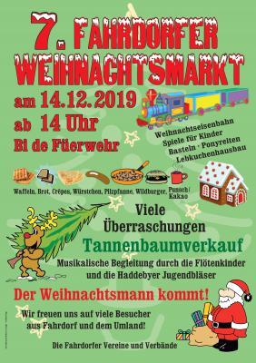 Plakat Weihnachstmarkt